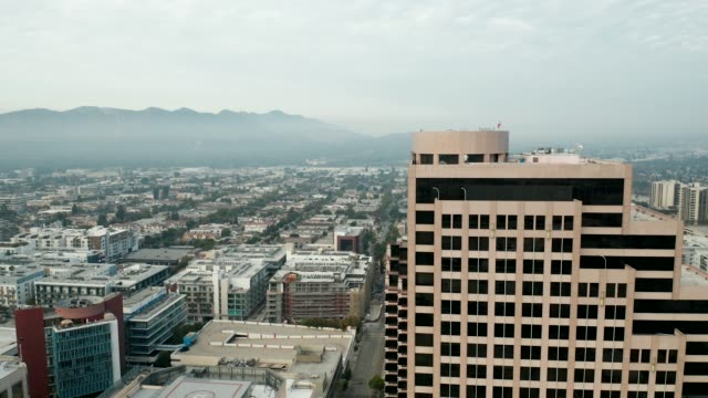 city of los angeles, glendale - california, usa, aerial view of downtown glendale looking towards the west. - downtown stock videos & royalty-free footage
