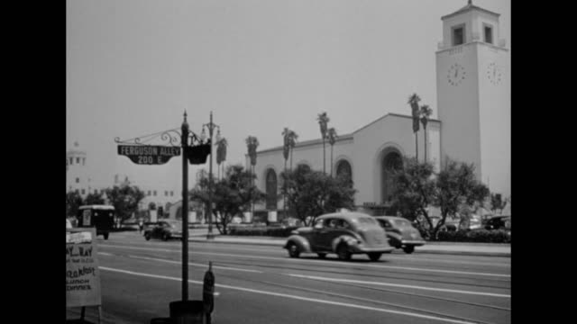 1948 city of los angeles homage - film noir style stock videos & royalty-free footage