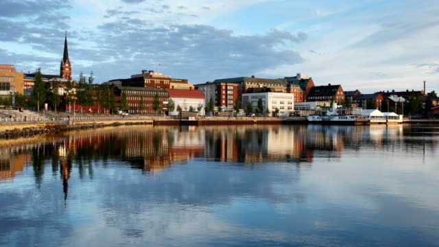 city of luleå, sweden - water's edge stock videos and b-roll footage