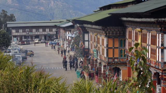ws city of mongar in bhutan - bhutan stock videos & royalty-free footage
