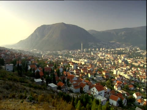 City of Mostar bordered by mountains