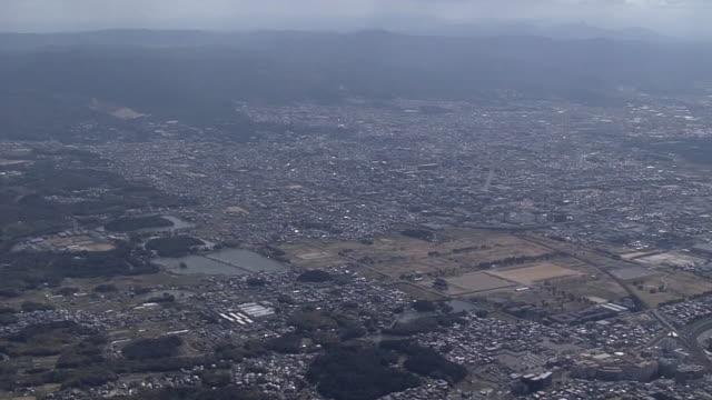 aerial, city of nara, nara prefecture, japan - 大昔の点の映像素材/bロール