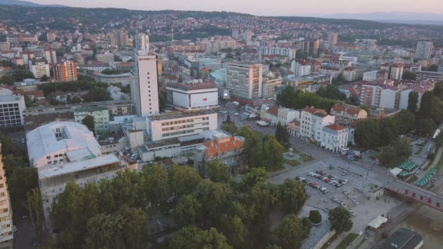 city of nis and city square - serbia stock videos & royalty-free footage