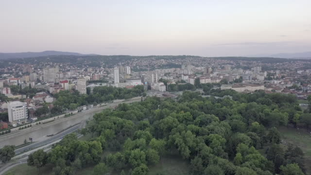 city of nis from air - serbia stock videos & royalty-free footage