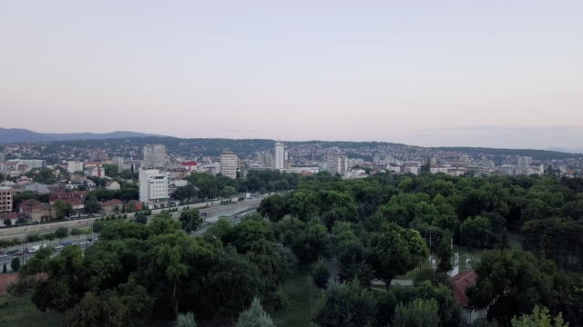 city of nis from the sky - serbia stock videos & royalty-free footage