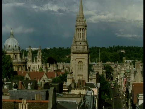 City of Oxford Buildings - WA high angle view, Radcliffe Camera, St Mary The Virgin Church & High Street