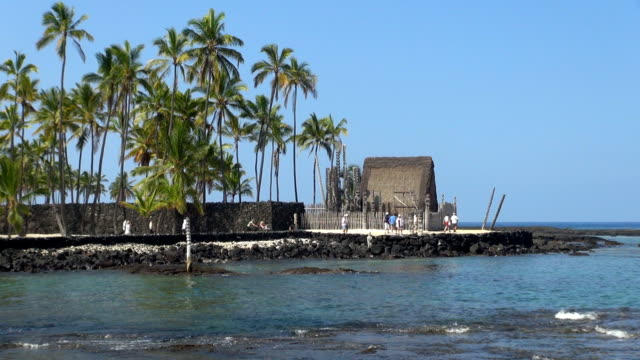 city of refuge - kona coast, hawaii - local landmark stock videos and b-roll footage