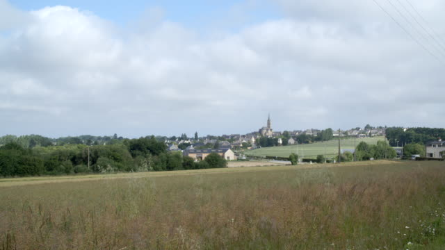city of rennes from the countryside / rennes, france - rennes frankreich stock-videos und b-roll-filmmaterial