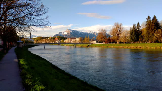 city of salzburg, austria, in spring - traditionally austrian stock videos & royalty-free footage