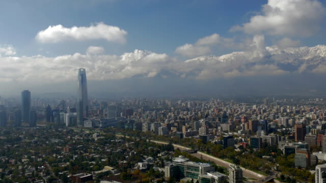 city of santiago de chile as seen from the san cristobal mountain - prosperity stock videos & royalty-free footage