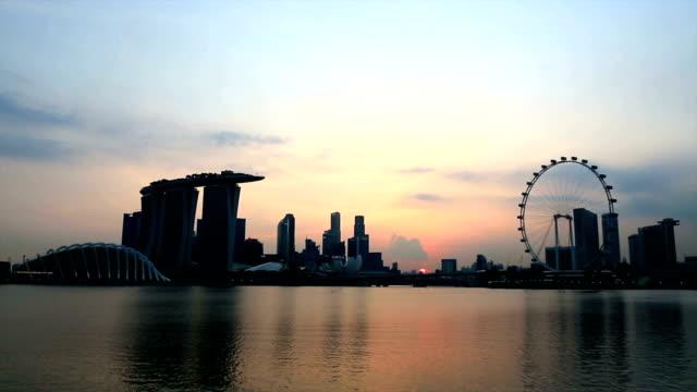 City of Singapore at Sunset