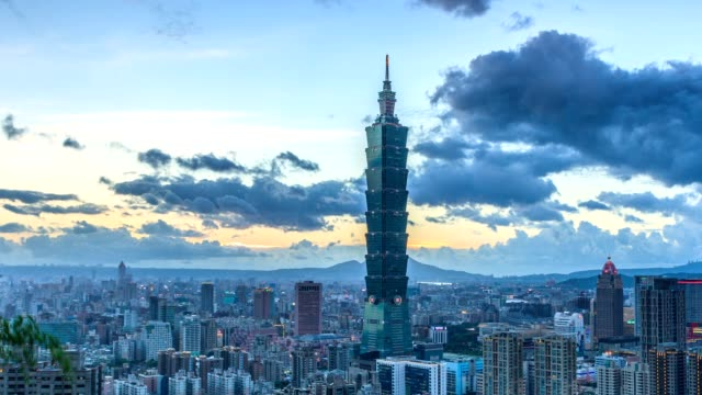 city of taipei timelapse - taipei 101 stock videos and b-roll footage