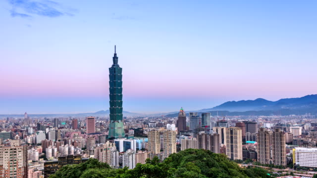 city of taipei timelapse - taipei stock videos & royalty-free footage