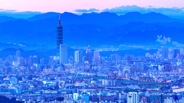 city of taipei(night to day) - taipei stock videos & royalty-free footage