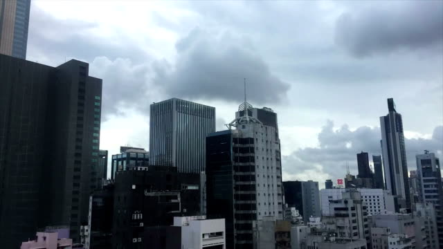 city of wan chai cloudscape - wan chai stock videos & royalty-free footage