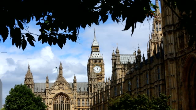 city of westminster in london - britisches parlament stock-videos und b-roll-filmmaterial