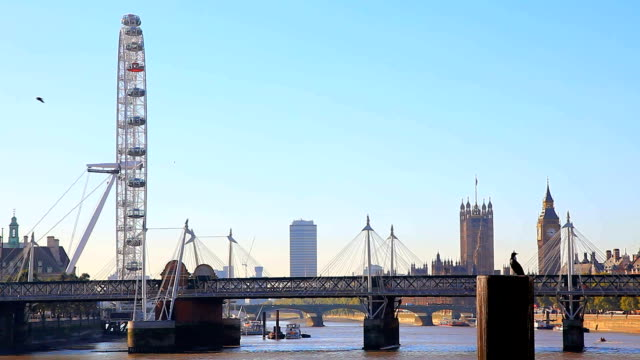 city of westminster - millennium wheel stock videos & royalty-free footage