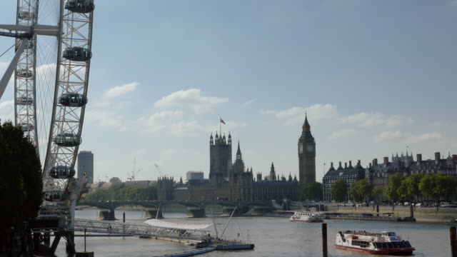 City Of Westminster vanuit Londen Eye Pier (UHD)