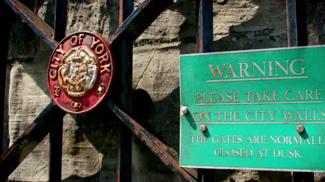 City Of York Wall Gate Warning Sign York City Centre