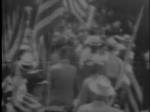 city officials and police officers attempt to hold back a crowd of white demonstrators in opposition to school integration. - 1959 stock videos & royalty-free footage