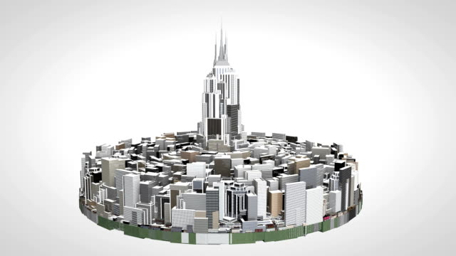 3D City on a disk