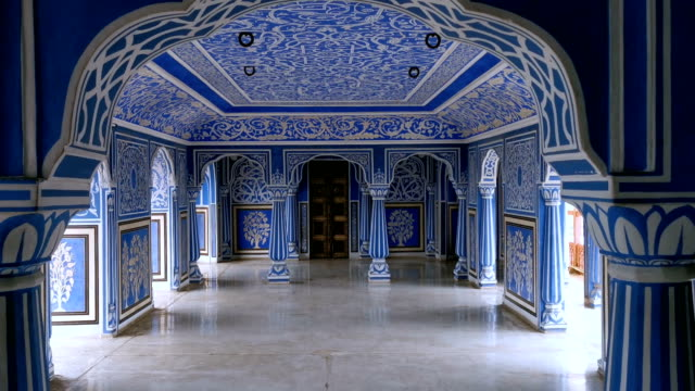 city palace in jaipur, india - floral pattern stock videos & royalty-free footage
