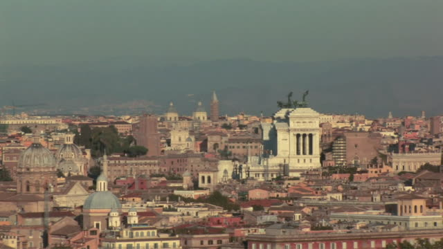 zo city panorama from hillside / rome, italy - letterbox format stock videos and b-roll footage