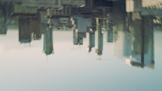 city panorama. rooftop view upside down - upside down stock videos & royalty-free footage