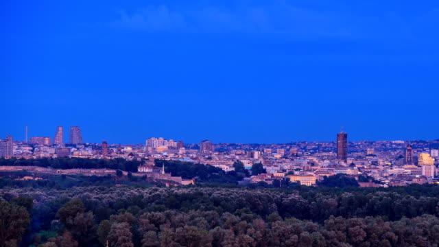 City panorama time-lapse