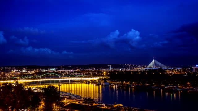 city panorama time lapse - serbia stock videos & royalty-free footage