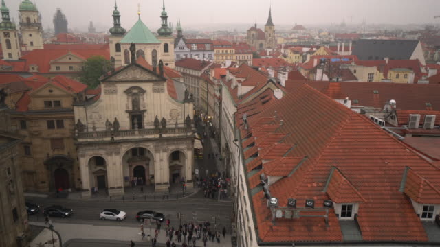city pedestrian and transportation in prague - stare mesto stock videos & royalty-free footage