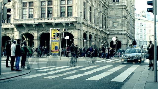 City Pedestrian Traffic ,Vienna.