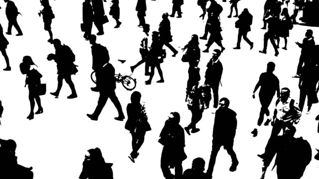 city people on the move - silhouette stock videos & royalty-free footage