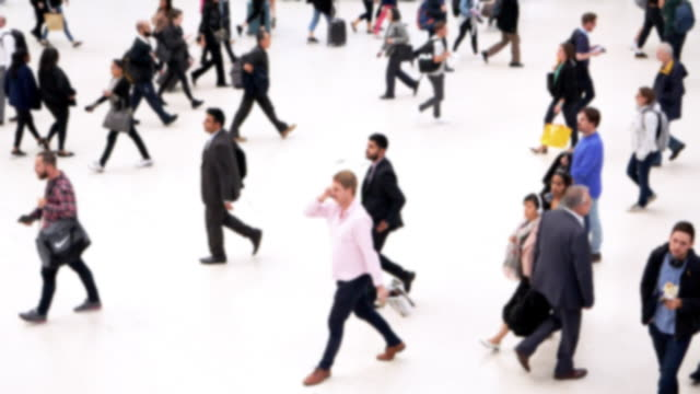 city people on the move - white background stock videos & royalty-free footage