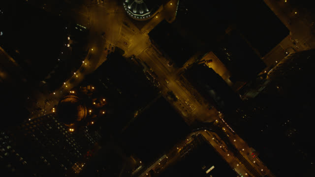 WS POV City roads at night