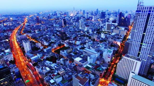 Stad wegen door Drone