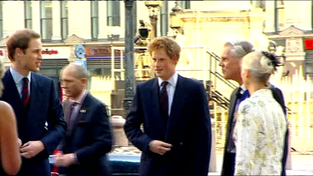 prince harry and prince william attend rooftop drinks reception england london photography *** prince william and prince harry arriving by car and... - lord mayor of london city of london stock videos & royalty-free footage