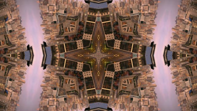 city scape, Kaleidoscopic Mandala