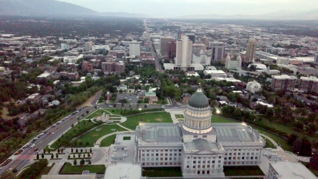 city scape with state capitol building - washington dc stock videos & royalty-free footage