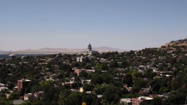 州議会議事堂のある都市景観 - アメリカ合衆国上院点の映像素材/bロール