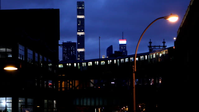 クイーンズボロ ホテル ニューヨーク市で都市のシーン - ニューヨーク市クイーンズ区点の映像素材/bロール