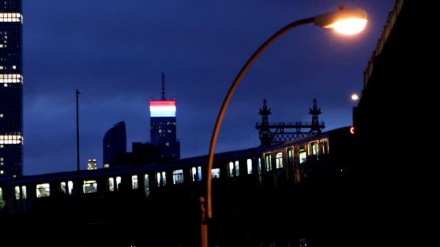 city scenes in queensboro plaza new york city - underground train stock videos & royalty-free footage