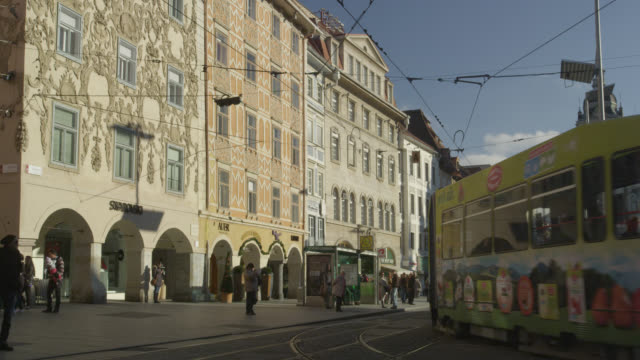 city scenes of graz, austria - baroque点の映像素材/bロール