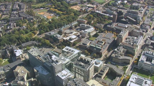 aerial city skyline and boston latin public school / boston, massachusetts, united states - letterbox format stock videos & royalty-free footage