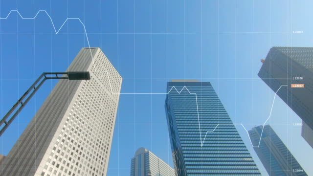 city skyline and charts and graphs - exchange rate stock videos & royalty-free footage