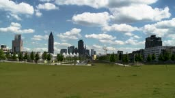 City Skyline and Cloudscape Time-Lapse Summer Panorama