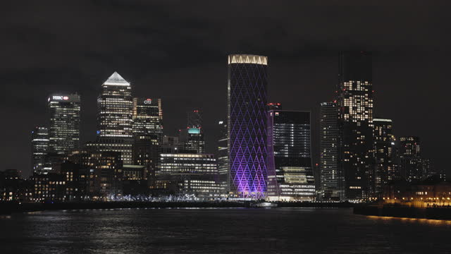 city skyline at night - real time stock videos & royalty-free footage