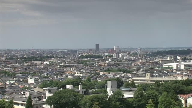 city skyline in kanazawa, japan - kanazawa stock videos and b-roll footage