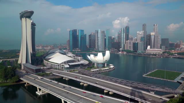 city skyline, marina bay, singapore, south east asia - southeast asia stock videos & royalty-free footage