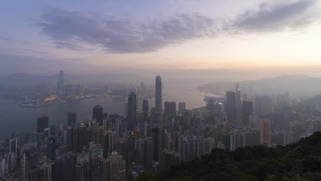 City skyline Night to day time lapse